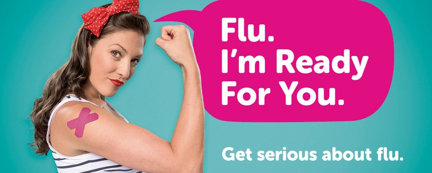 woman after flu vaccine