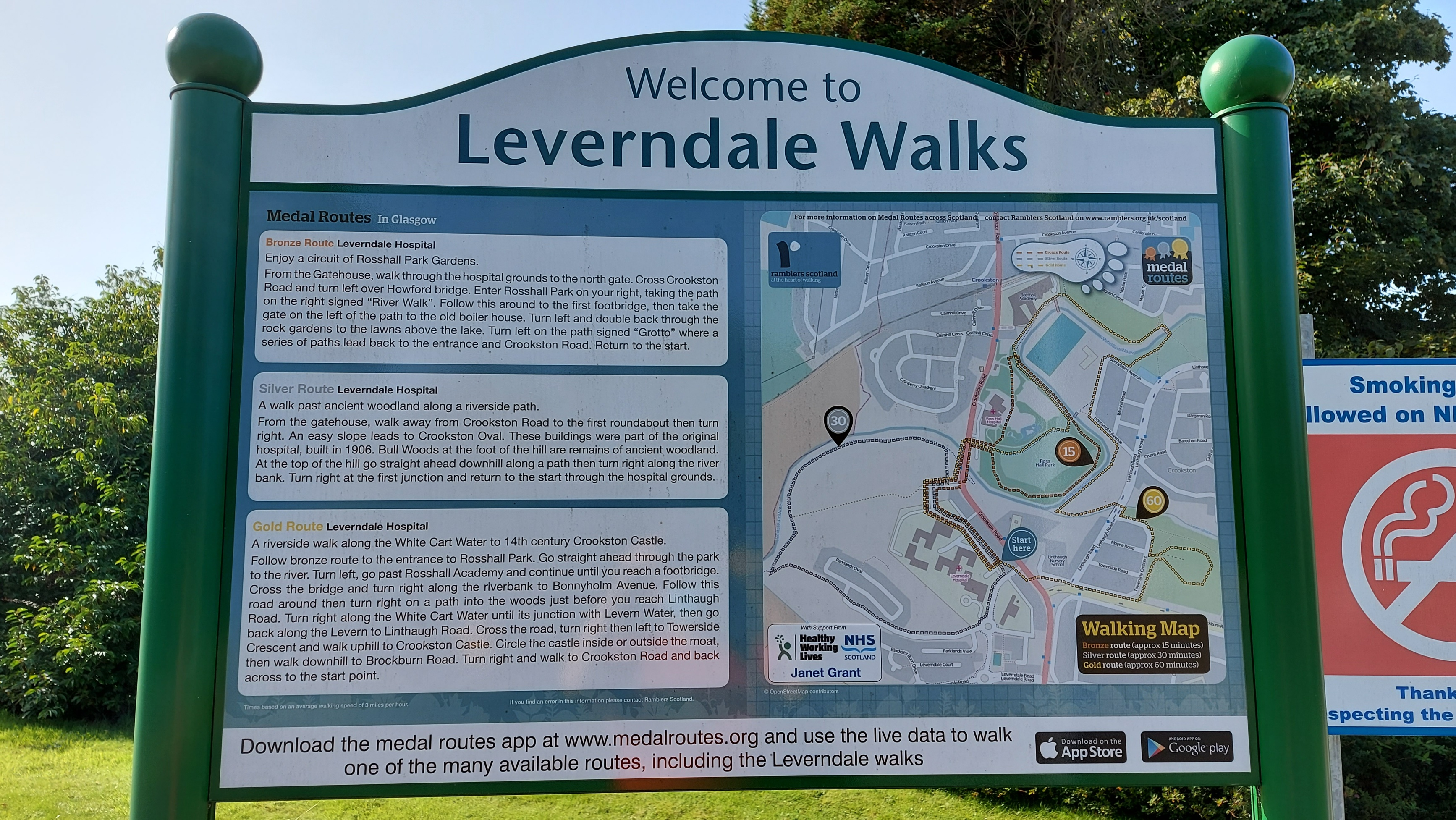 Gold Medal walks at Leverndale Hospital